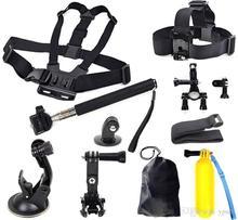 Gopro Hero Аксессуары комплект шлем плавающие палка для селфи монопод нагрудный ремень крепления головы ремень GoPro Hero 2 3 3 + 4 Sj4000 комплект