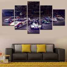 5 Piece High Grade Sports Car Poster Modern Painting Canvas Home Decor Living Room Or Bedroom HD Print Wall Art Modular Picture