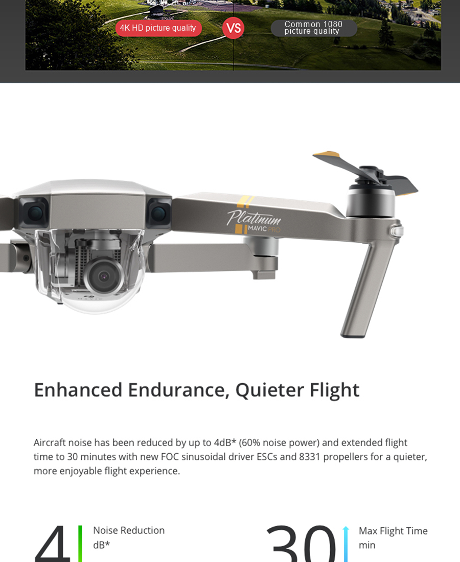DJI Mavic  Fly More Combo with 4K HD Video Recording 30mins Flight time 7km Remote Control dji mavic pro drone_03
