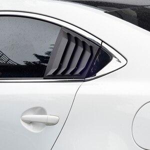Image 5 - עבור מאזדה 6 ATENZA 2014 2015 2016 2017 2018 סיבי פחמן ABS אחורי חלון Hanlde משולש קערת כיסוי רכב סטיילינג אביזרי 2 pcs