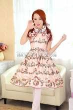 Sweet Squirrel & Rabbit Floral Printing JSK Lolita Party Dress