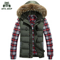Free shipping 2017 Fashion Hooded Sleeveless Overcoat Winter Men Hooded Vest Men's Down Vest Warm Zipper Jacket and Coat 90hfx1