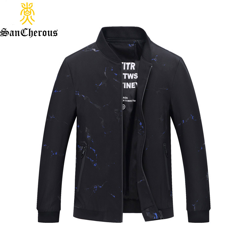 2019 New Spring Autumn Man Coat 100% Polyester Outerwear Stand Collar Men Jacket Size M-3XL