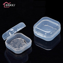 5pcs/lot Clear Lidded Mini Square Plastic Earplug Box For Storage Small Parts Tool Jewelry Screw Case Beads Container Packaging(China)
