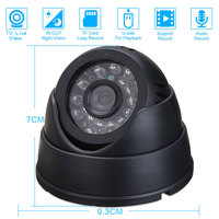 Home Security DVR Dome BNC Camera 4G-32G TF Card Slot Support Loop Recording PC/TV Live View Motion Detection Night Vision