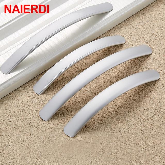 Naierdi E Aluminum Cabinet Handles Kitchen Door Straight Handle Drawer Pull S Modern Fashion Furniture Hardware