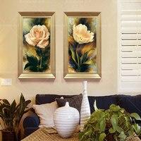 Canvas Wall Art Home Decoration Đen Trắng Đỏ Rose Flower Painting Tường Hình Ảnh Đối Với living Room Canvas In Unframed RB0028