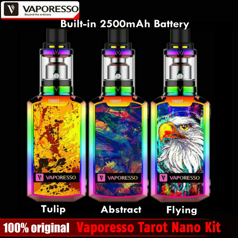 2017 New Original Vaporesso Tarot Nano Kit 2ml Veco Tank And 80W Box Mod Vape 2500mah