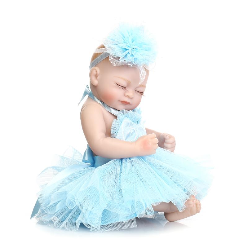 28cm Silicone Baby Reborn Dolls Baby Shower Toys Laugh Baby Dolls Girl  Brinquedos Toys Kid Gifts Baby Sleeping Cradle Dolls In Dolls From Toys U0026  Hobbies On ...