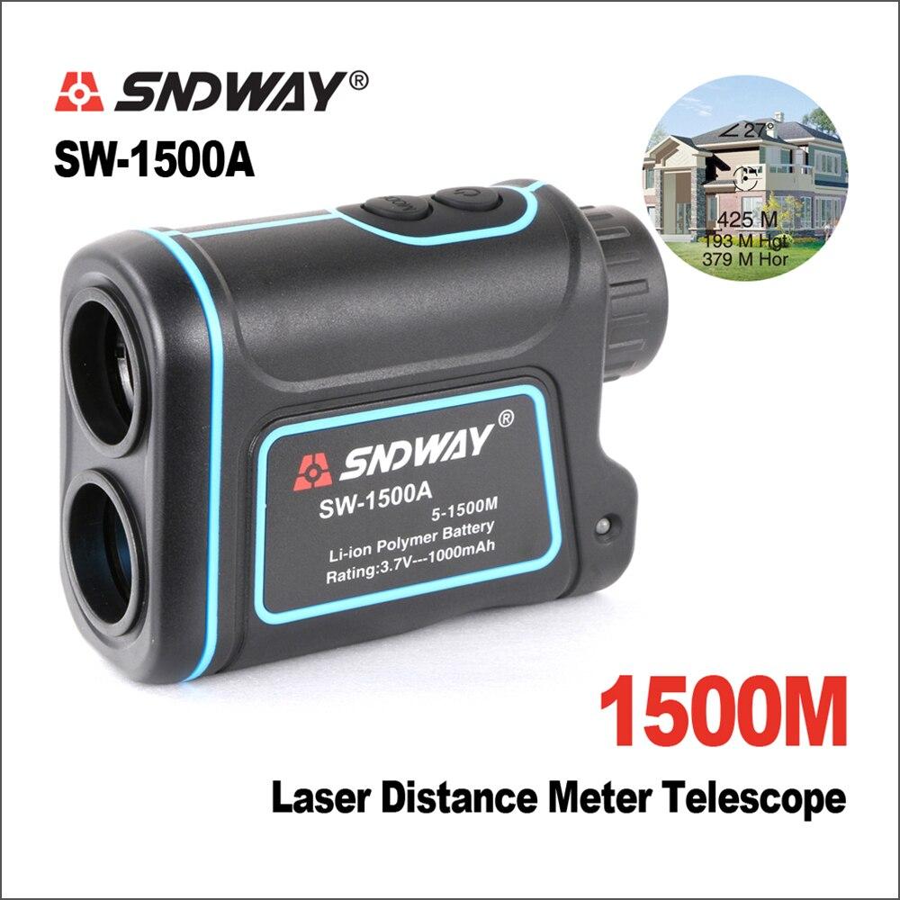 SNDWAY télescope Trena numérique télémètres Laser Distance mètre 7X1500 M monoculaire chasse Golf Laser télémètre ruban à mesurer