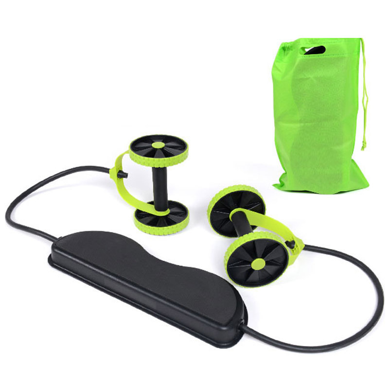 Ab Roller Wheel With Mat Abdominal Trainer Wheel Arm Waist Leg Exercise Multi-functional Home Workout Fitness Equipment Exercise