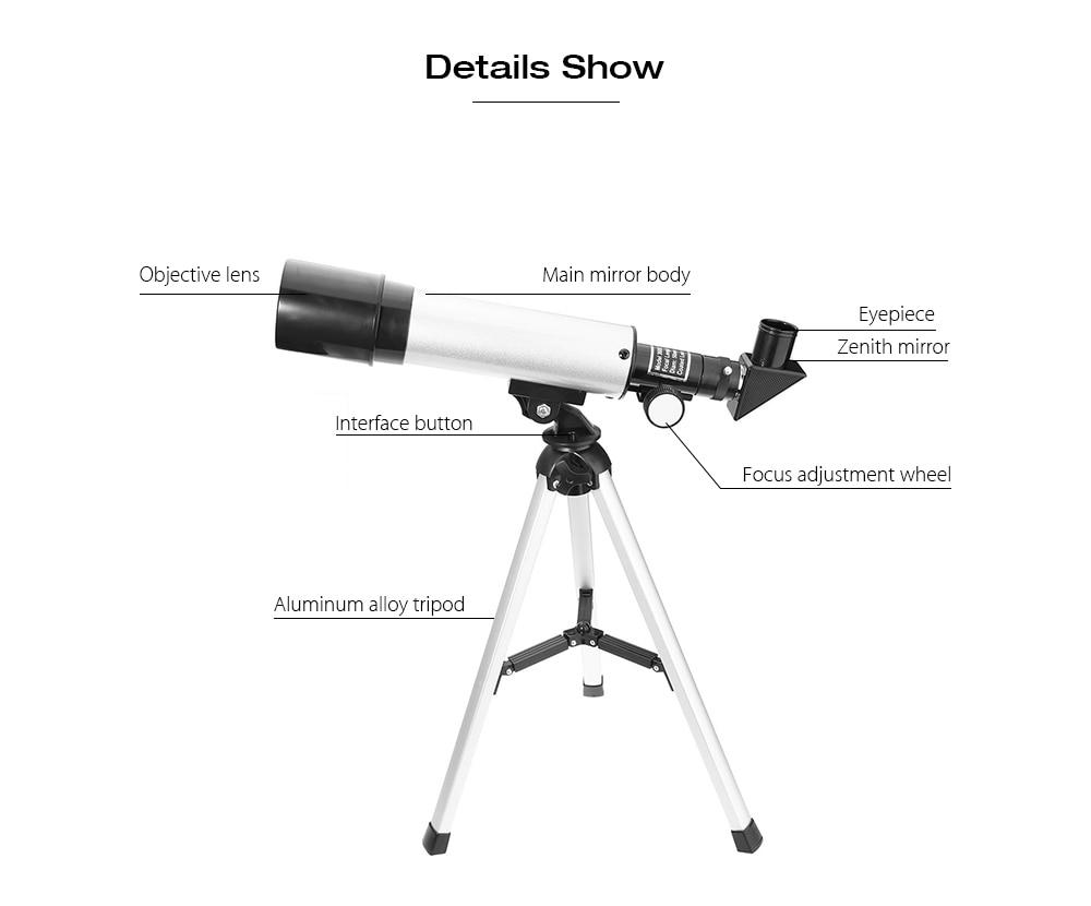 F monokularowy teleskop astronomiczny x