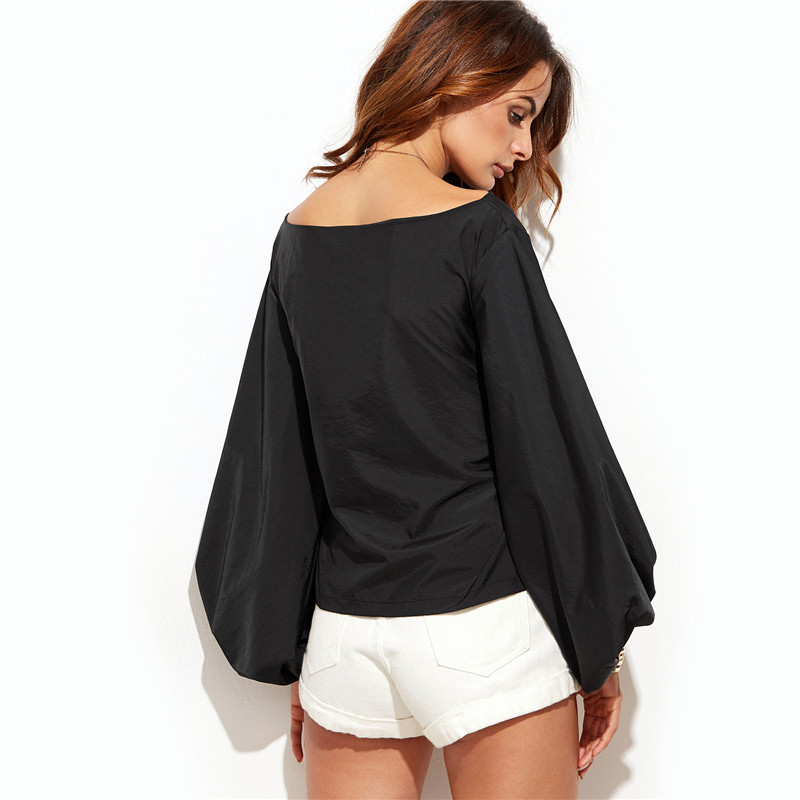 HTB12riINVXXXXXzXFXXq6xXFXXXJ - Shirts Women Tops Long Sleeve Lantern Sleeve Blouse