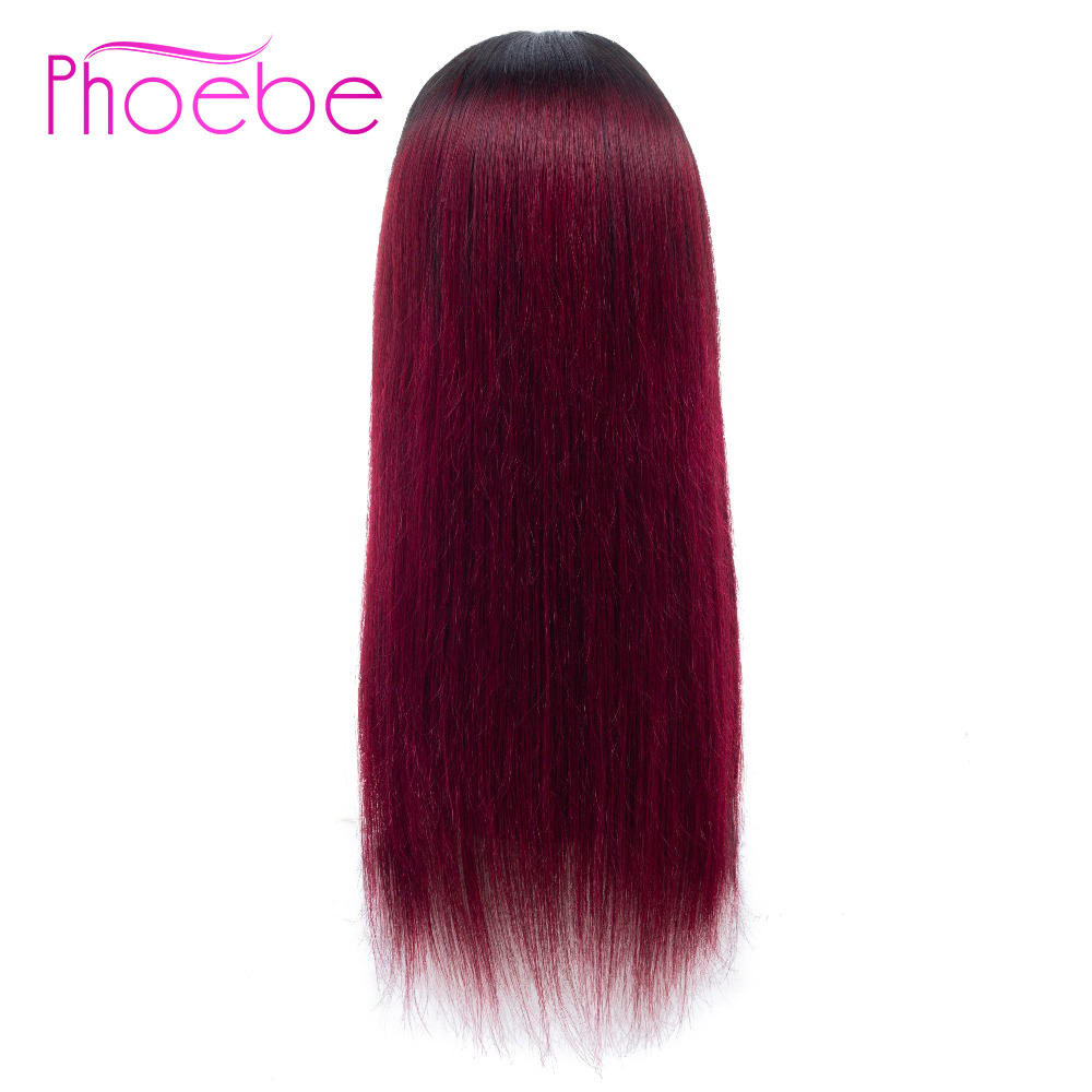Phoebe Hair 4x4 Lace Closure Wig Malaysia Hair 10 24 Inches 100 Human Hair 1B 99J