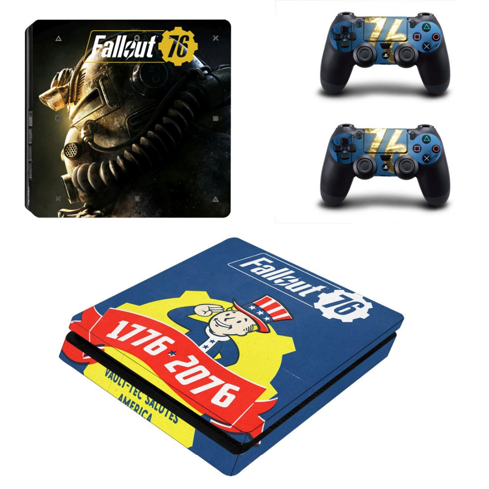 Skin For Playstation 4 PS4 Slim Sticker For Console Controller Cover Play station 4 SLIM Vinyl Decals Game Stickers