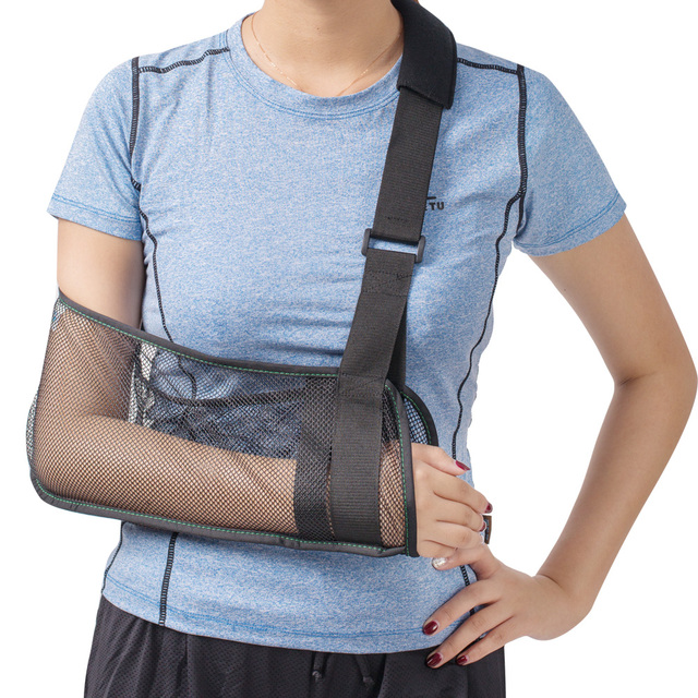 Cabestrillo de malla transpirable-hombro dislocado Sling para brazo roto  inmovilizador muñeca codo apoyo ligero 6bf48d5aa478