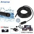 IP62 endoscópio 10 m USB Endoscópio Inspeção À Prova D' Água Mini Câmera Endoscopio 6 LEDs Tubo Cobra Câmera Endoskop para Computador