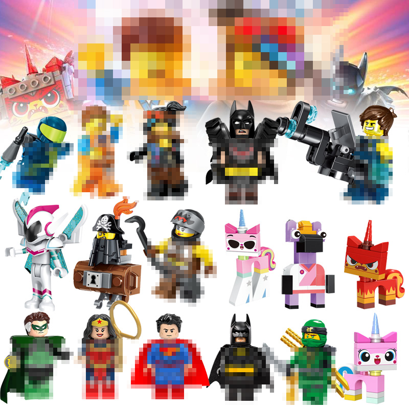 For Batman Movie 2 Unikitty ninja Emmet Wyldstyle Sheriff Gordon Cop Lord Vitruvius Batman Building Blocks Toys Figures BRICKS(China)