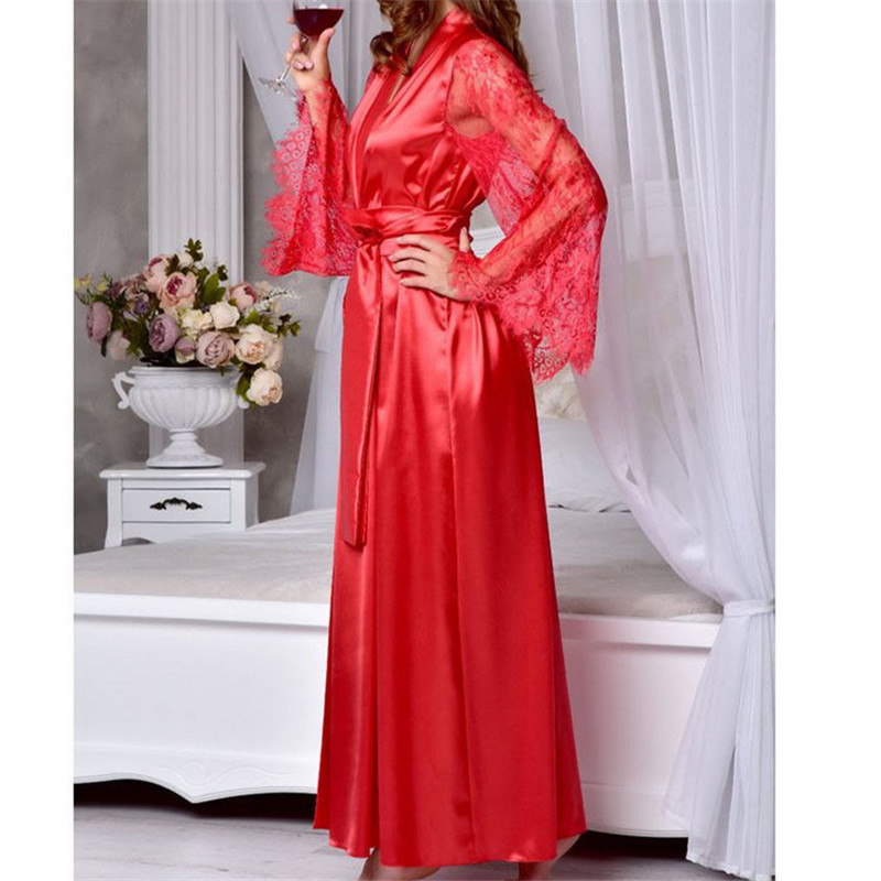 New Fashion Sexy Lingerie Women Silk Lace Dress Babydoll Nightdress Nightgown Sleepwear Summer HOT 27
