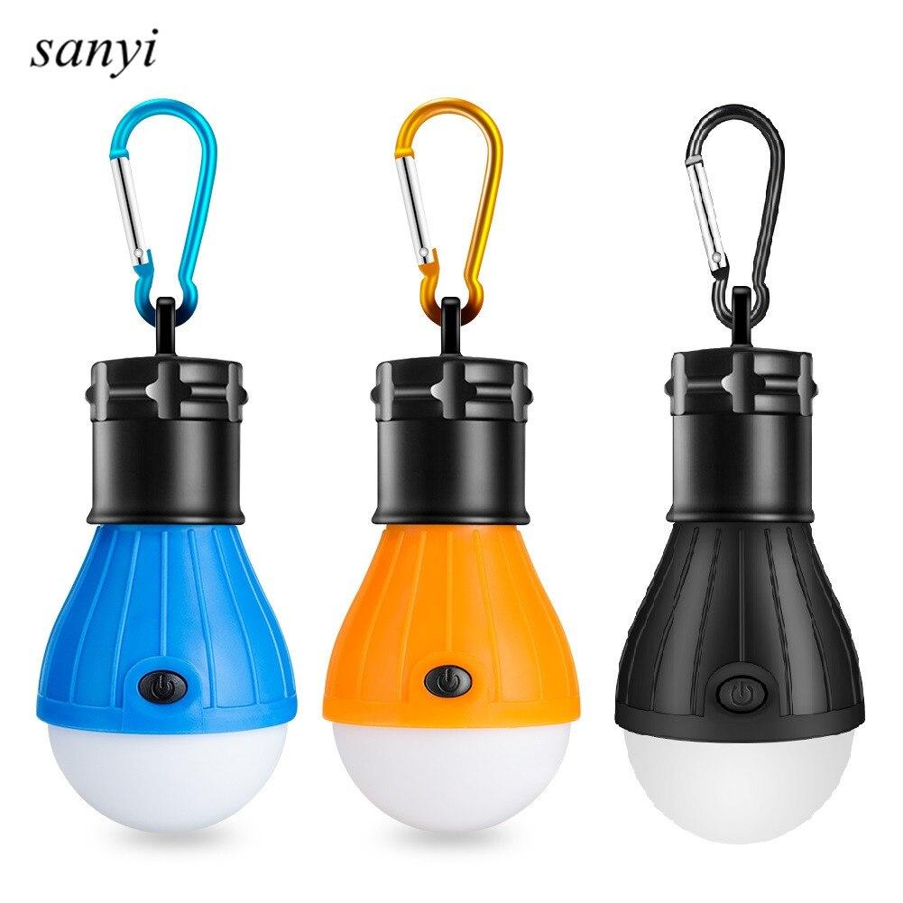 Новинка 2019 Мини портативный фонарь палатка Светодиодная лампа аварийная лампа Водонепроницаемая Подвесная лампа для кемпинга 3 * AAA