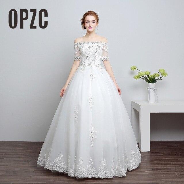 Real Photo Fashion Girls Wedding Dress 2017 Spring Korean Style Half
