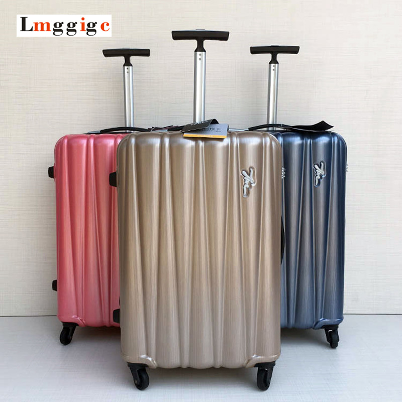 2024inch Universal wheels trolley luggage bag male female travel suitcase with Rolling PC Material Carry-On Carrier Trolley Box fashion luggage female small fresh 16 20 suitcase universal wheels trolley luggage travel 24 soft box vintage hello kitty luggag