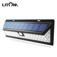 IP65 Waterproof Solar Lamps 54 LED Outdoor Solar Lights With 3 Adjustable Light Models 120 Degree Angle For Garden Yard Garage