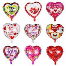 18 inc я подвеска в форме сердца шарики из фольги разных форм День Святого Валентина Свадьба С Днем Рождения Украшения для вечеринки сделанные своими руками шар