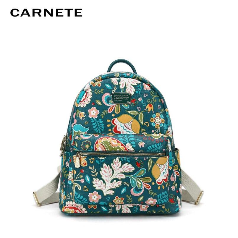 CARNETE 2019 Fashion Women bags Womens Backpack Luxury  Designer High Quality PU S L School Bag Mochilas Plecak
