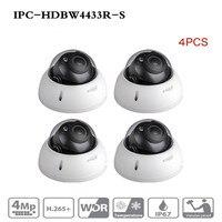 Ahua IPC-HDBW4433R-S 4 шт./лот 4MP IP Камера заменить IPC-HDBW4431R-S IK10 IP67 POE слот для карты SD Starnight Cam большой Ночное видение
