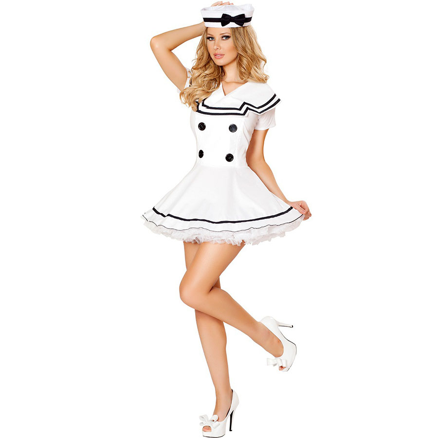 Sexy Sailor Costume Cosplay Classic Navy Uniforms Outfits Sexy Costume for Role Play  Women Fancy Dress