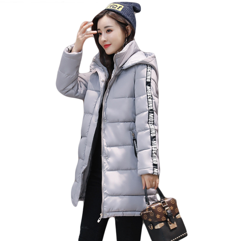 New Women's Winter Jacket Women Cotton Parkas Jackets Winter Hooded Jacket Girls Fashion Padded Medium-long Slim Coats CM1536 winter jacket women 2017 new female 5 color slim cotton padded jackets fashion short hooded zipper parkas coats a1013b 16601