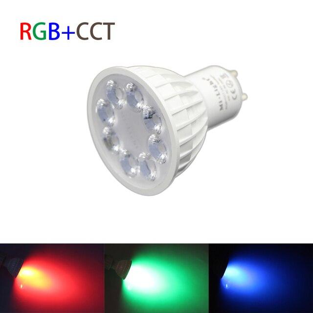 Mi.Light 2.4G Wireless AC 85-265v light bulbs GU10 4W RGBW RGB/WW RGB+CCT RF Led Lamp 5730 SMD Dimmable full color Spotlight