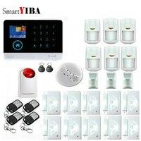 SmartYIBA WIFI 433MHz Smart Home Intruder Burglar Alarm Wireless GSM SMS Alarm System With Strobe Siren
