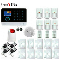 SmartYIBA WIFI 433MHz Smart Home Intruder Burglar Alarm Wireless GSM SMS Alarm System With Strobe Siren