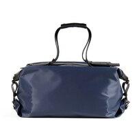 Большой емкости портфели для бизнесмена мягкий и легкий нейлон с натуральной кожи Путешествия Duffle черный синий мужские дорожные сумки (XW56003
