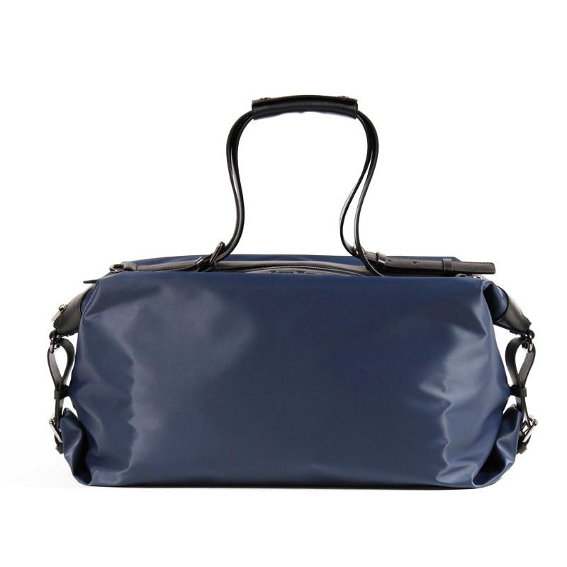 Вместительные портфели для бизнесмена из мягкого и легкого Нейлона из натуральной кожи, дорожные сумки черного и синего цвета для мужчин (