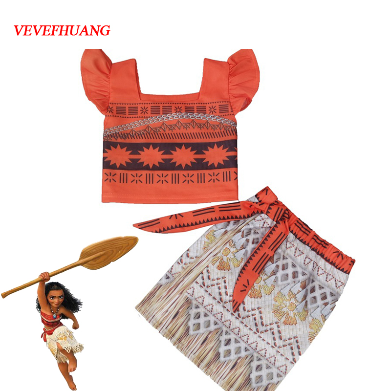 VEVEFHUANG Princess Moana Cosplay Costume for Children Moana Costume for Adult Women Halloween Costumes for Kids Girls Gift