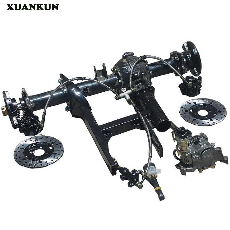 XUANKUN  Four - Wheeled Motorcycle Karting Modified Parts Suspension Beach Axle Drive Differential Rear Axle Disc Brake