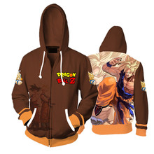 3D Anime Dragon Ball Z Goku hoodie cosplay costume jacket Sweatshirts Men Women Long Sleeve Outerwear