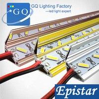 50 м/лот 7020 бар U/V Groove свет Светодиодные Жесткая полосы Таблица Освещение Jewelry лампы DC 12 В (вместо 5630 Светодиодные трубки жесткий)