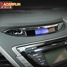Aosrrun Бесплатная доставка 2012 2013 для Hyundai Elantra ABS отделки приборной панели автомобильные принадлежности