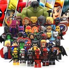 X-men deadpool legoes блоки, фигурки гражданской халк совместимые heroes minifigures marvel
