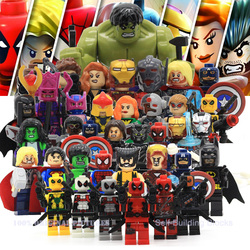Marvel super heroes action figures minifigures building blocks compatible with legoes civil war x men hulk.jpg 250x250