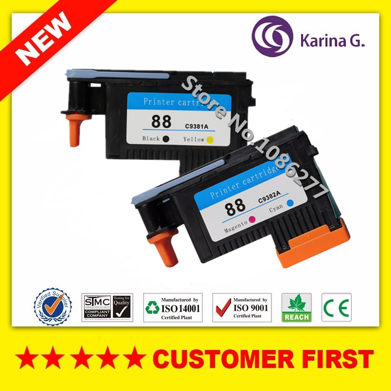 1set Remanufactured Printhead for HP88 C9381A C9382A suit for L7580 7590 K5400 K550