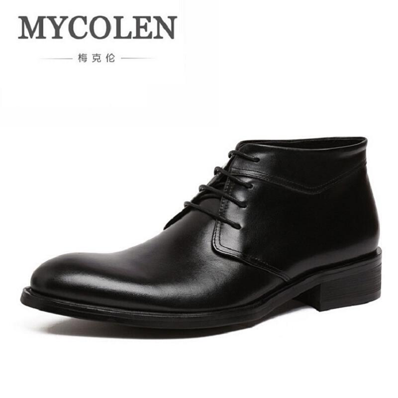 Los Cuero Alta Zapatos vino Mycolen 3 Colores marrón Casuales Genuino Invierno Hombres Botas Negro De Tinto Tobillo Cómodos Clásico q0wBCxzwPI