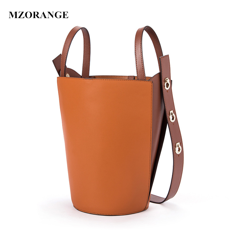 MZORANGE New 2018 Designer Classic Bucket Bag Patchwork Tote Women Split Leather Handbags Ladies Bag Shoulder Bags For Female new 2017 classic casual patchwork tote popular women canvas & split leather handbags ladies bag messenger bags for female an768