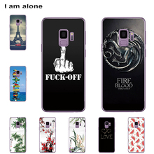 I am alone Phone Cases For Samsung Galaxy S9 G960 5.8 inch Solf TPU Cellphone Fashion Cute Case For Samsung Galaxy S9 G960 куртка onttno g960 2014