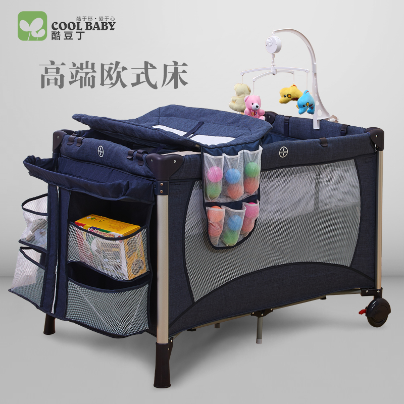 Coolbaby Game Bed, Multi Function Folding Baby Portable Bb European Children Cradle