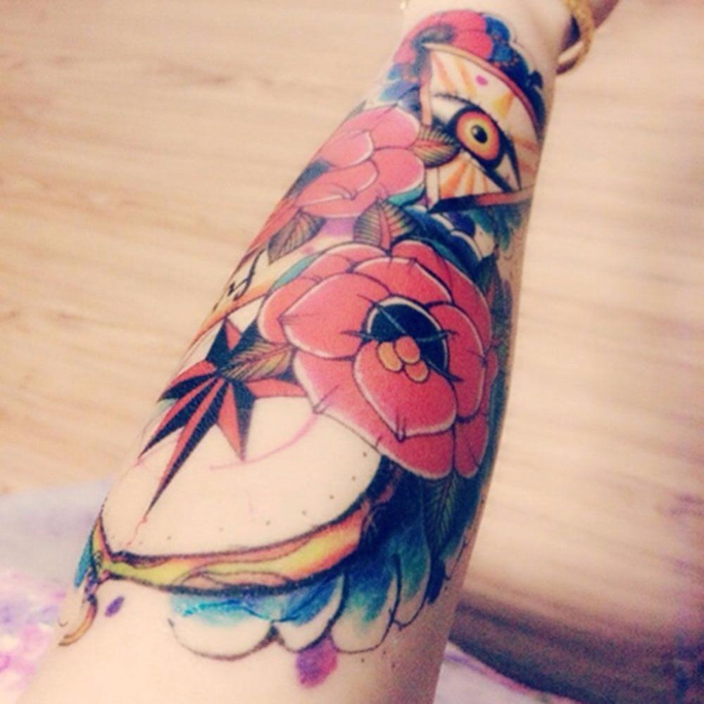Us 046 17 Offkwiat Róży Oko Jewel Tajemniczy Temporaty Rękawy Dolne Ramię Tatuaże Tatuaż Naklejki Naklejki Tatuaże W Kwiat Róży Oko Jewel